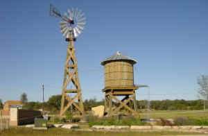 windmill and wood tank - American Windmills Co